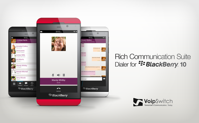 Voipswitch is launching  RCS Dialer for Blackberry 10